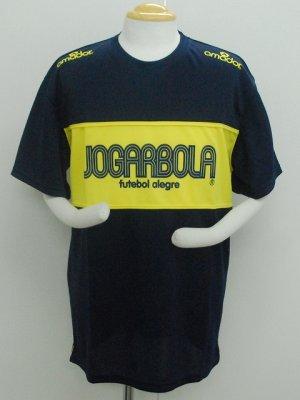 画像1: JOGARBOLA プラクティスシャツ ネイビー×イエロー