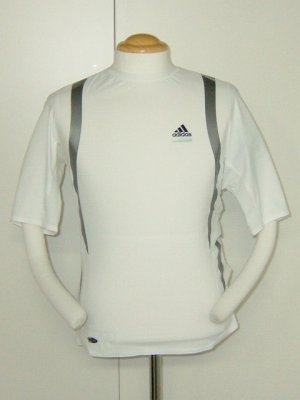 画像1: adidas テックフィット パワーウェブ ショートスリーブT ホワイト