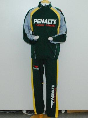 画像1: PENALTY トレーニングジャケット&パンツ ダークグリーン