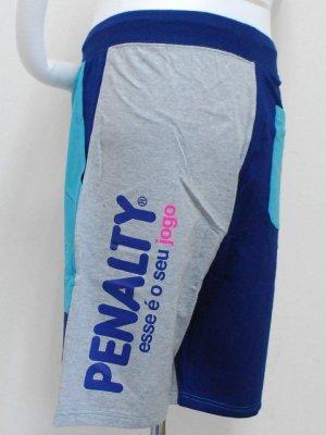 画像3: PENALTY スウェットハーフパンツ ネイビー×グレー