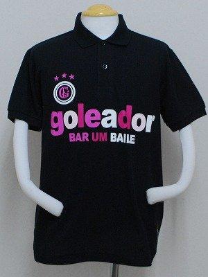 画像1: goleador PALETAポロシャツ ブラック×ピンク