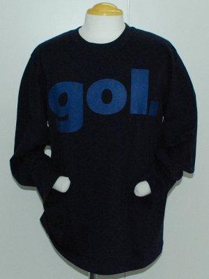 画像1: gol. デカロゴ長袖Tシャツ ネイビー