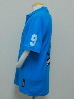 画像3: goleador 鹿の子No.9ポロシャツ ターコイズ