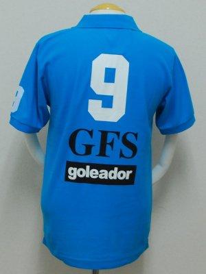 画像2: goleador 鹿の子No.9ポロシャツ ターコイズ