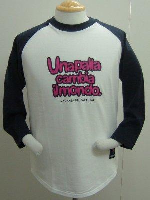 画像1: SPAZIO VACANZA七分Tシャツ ネイビー