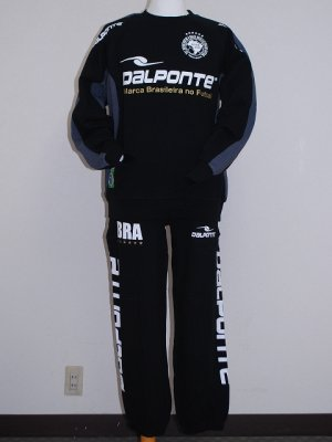 画像1: DalPonte クルーネックスウェットセット ブラック