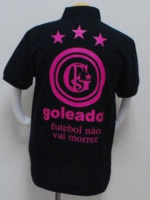 画像2: goleador PALETAポロシャツ ブラック×ピンク