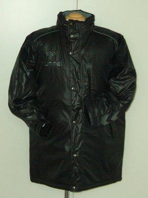 画像1: hummel スタッフコート ブラック