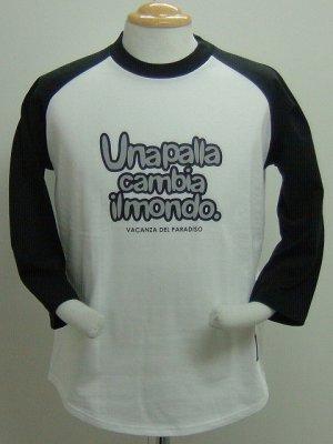画像1: SPAZIO VACANZA七分Tシャツ ブラック