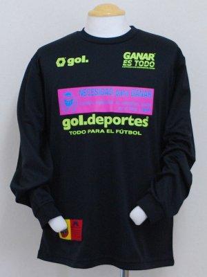 画像1: gol. ロングスリーブプラクティスTシャツ ブラック